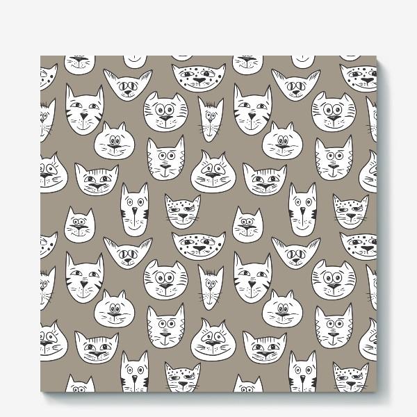 Холст «Кофейные коты»