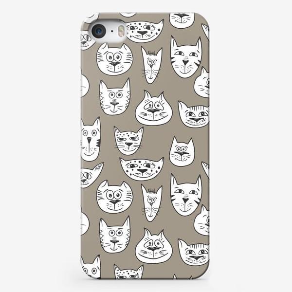 Чехол iPhone «Кофейные коты»