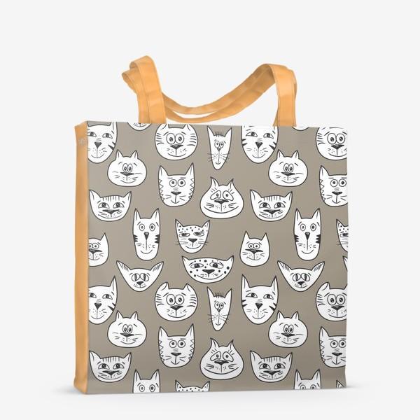 Сумка-шоппер «Кофейные коты»