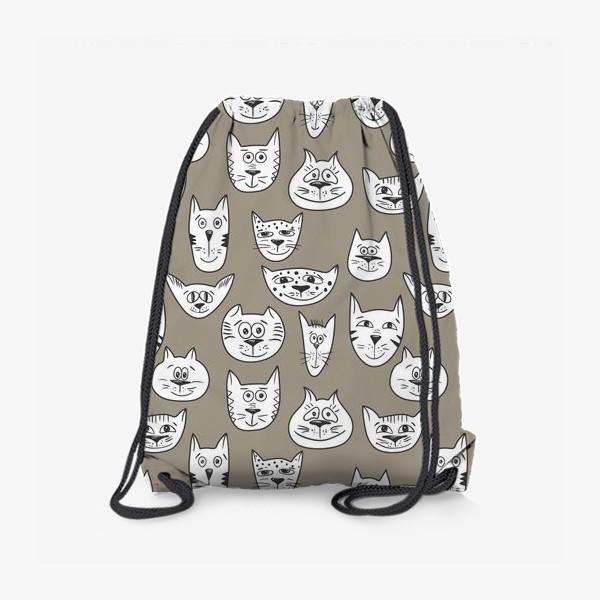 Рюкзак «Кофейные коты»