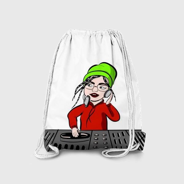 Рюкзак «Девушка в наушниках диджей»