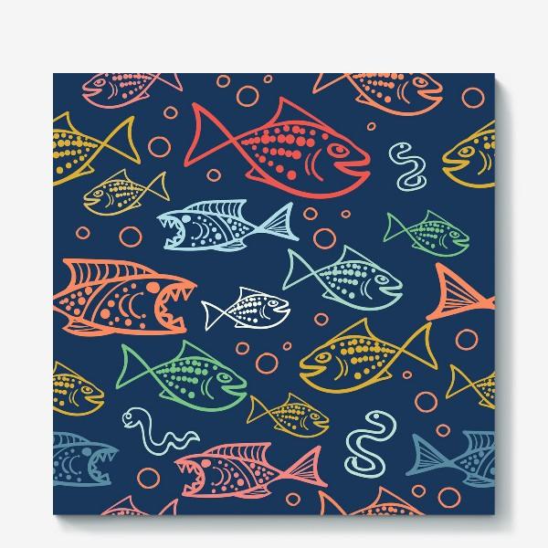 Холст «Рыбий Мир»