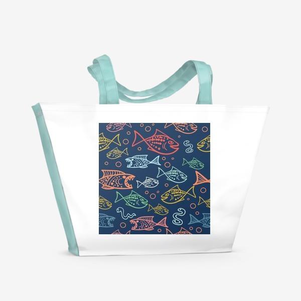 Пляжная сумка «Рыбий Мир»