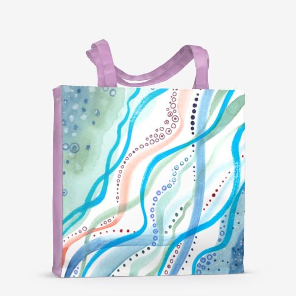 Сумка-шоппер «Бирюзовая волна»