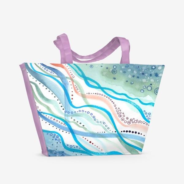 Пляжная сумка «Бирюзовая волна»