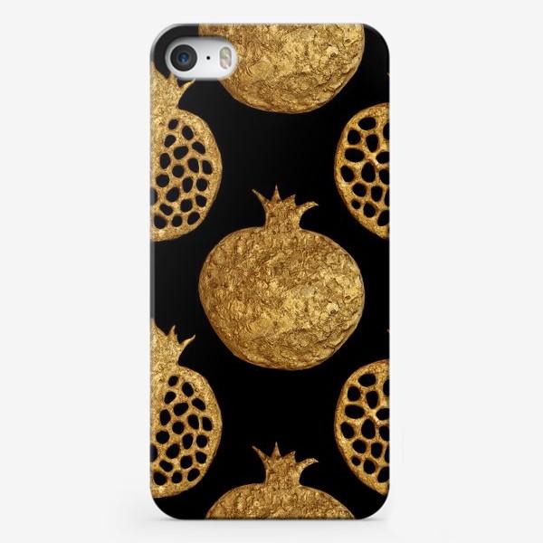 Чехол iPhone «Гранаты винтаж на черном»