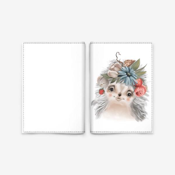 Обложка для паспорта «Ежик в тумане»