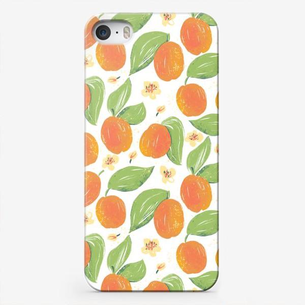 Чехол iPhone «Абрикосовый сад в цвету. Спелый фрукт абрикос. Фрукты абрикосы. Весеннее цветение дерева.»