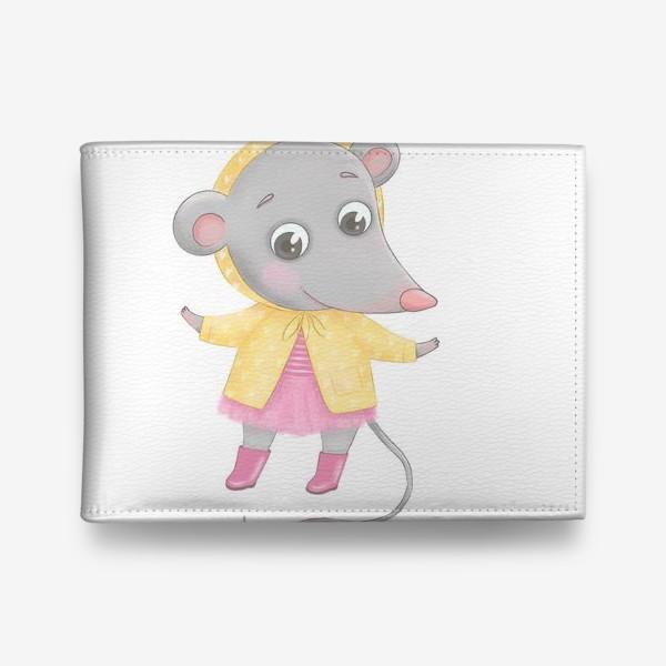 Кошелек «Мышонок в желтом плаще»