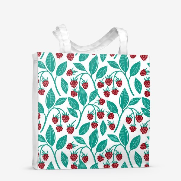 Сумка-шоппер «Садовая малина. Спелая ягода.»