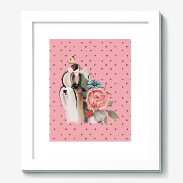 Картина «Паттерн Йорк на розовом фоне»