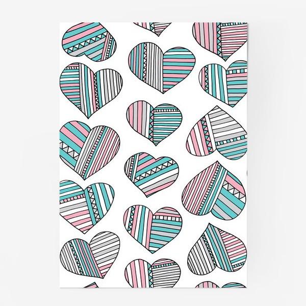Постер «Сердечки в полоску»