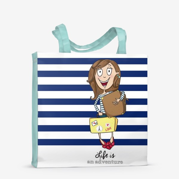 Сумка-шоппер «Life is an adventure»