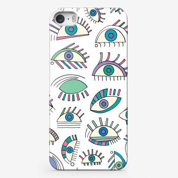 Чехол iPhone «Глаза паттерн»