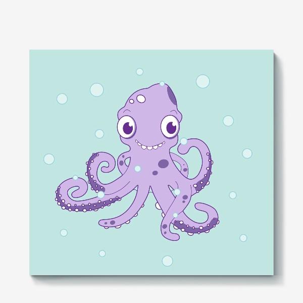 Холст «Любознательный осьминог»