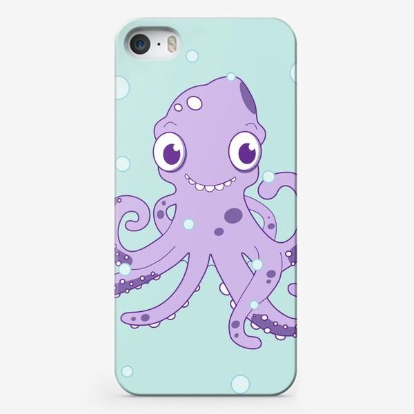 Чехол iPhone «Любознательный осьминог»