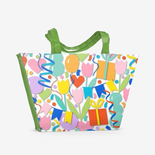 Пляжная сумка «День рождения!»