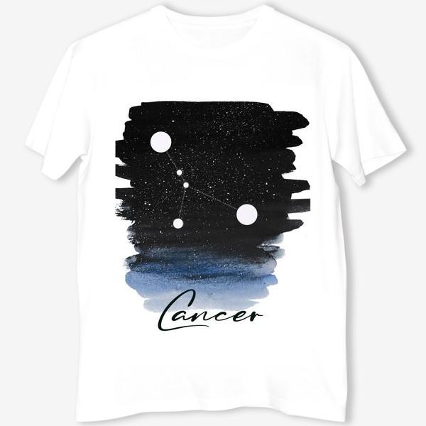 Футболка «Созвездие Рак. Звездное небо. Акварель»