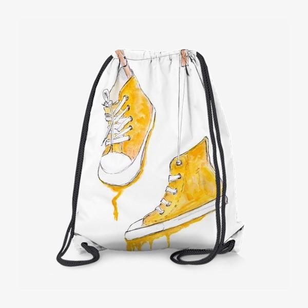 Рюкзак «Кеды. Желтый тает.»