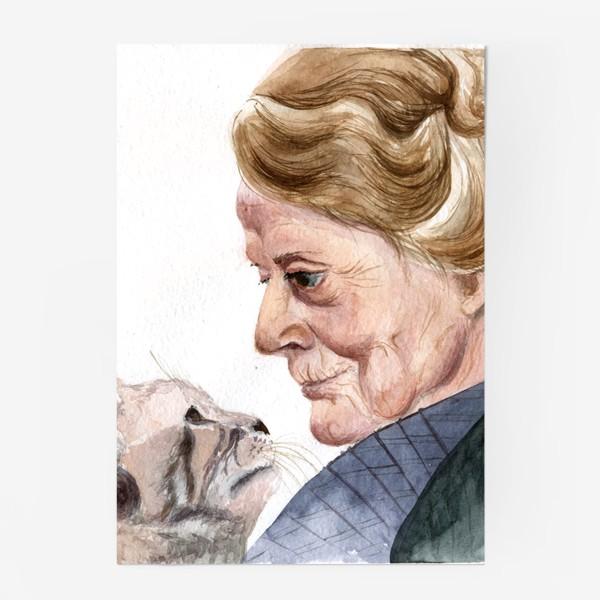 Постер «учитель профессор Макгонагалл и кошка из Гарри Поттера»