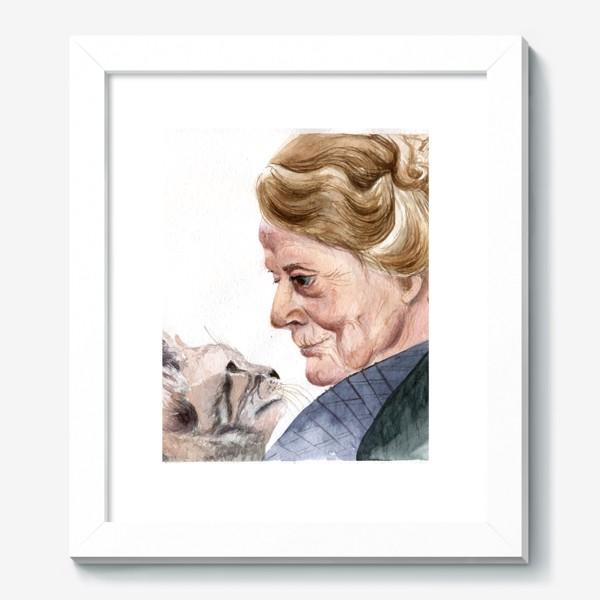 Картина «учитель профессор Макгонагалл и кошка из Гарри Поттера»
