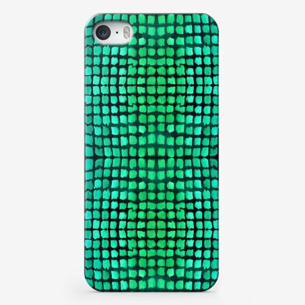 Чехол iPhone «малахитовый узор»