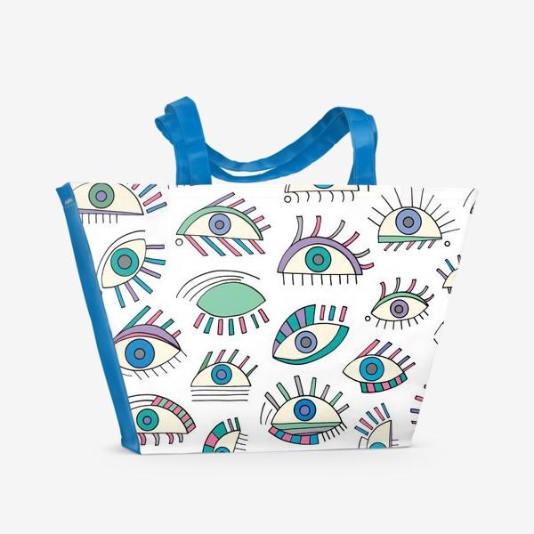 Пляжная сумка «Глаза паттерн»