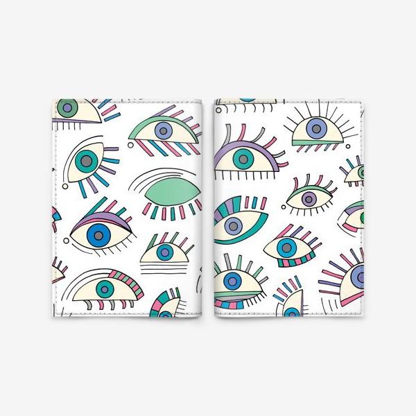 Обложка для паспорта «Глаза паттерн»