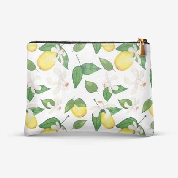 Косметичка «Лимоны и листья»