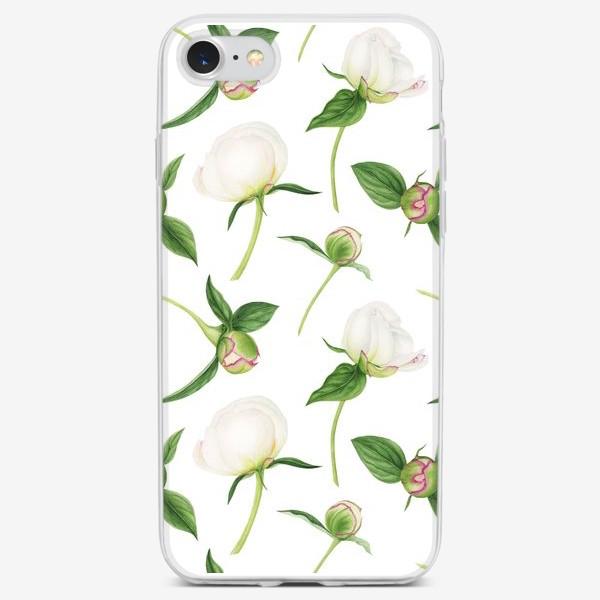 Чехол iPhone «Бутоны белых пионов»