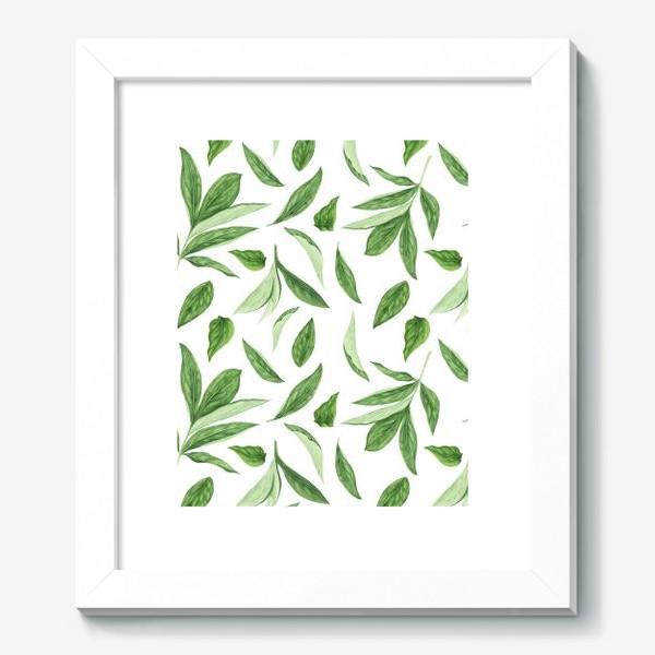 Картина «Листья пиона»
