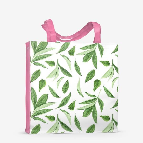 Сумка-шоппер «Листья пиона»