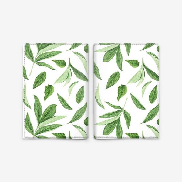 Обложка для паспорта «Листья пиона»
