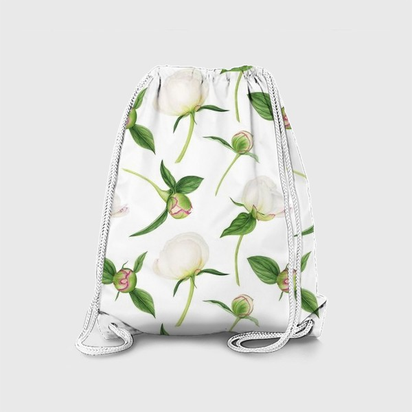 Рюкзак «Бутоны белых пионов»