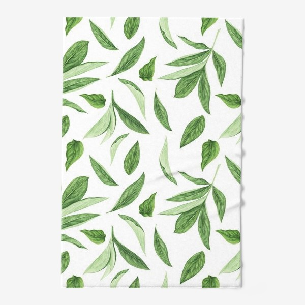 Полотенце «Листья пиона»