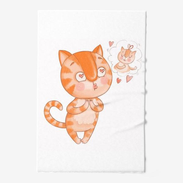 Полотенце «Котик Кексик влюблен»