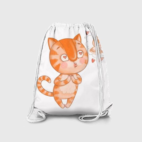 Рюкзак «Котик Кексик влюблен»