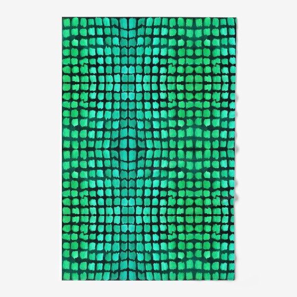 Полотенце «малахитовый узор»
