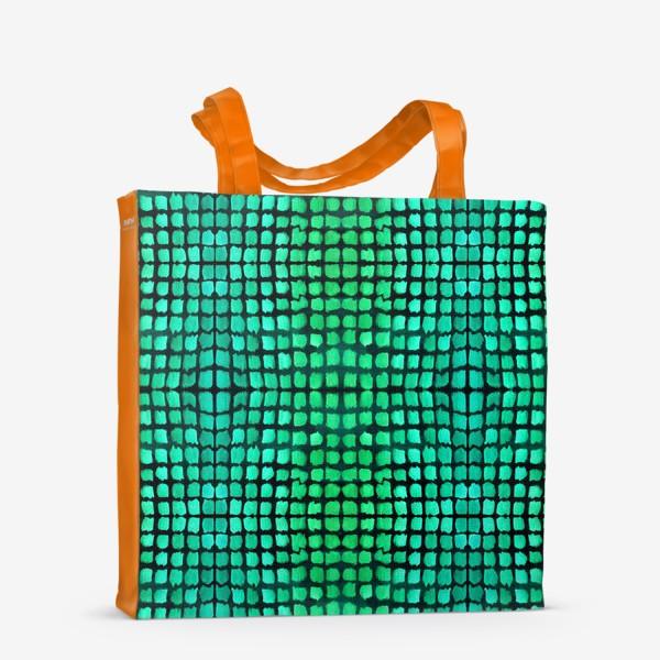 Сумка-шоппер «малахитовый узор»