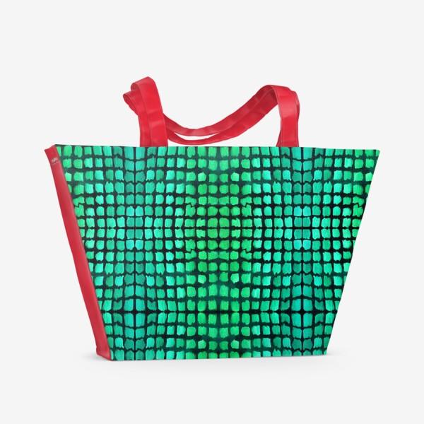Пляжная сумка «малахитовый узор»