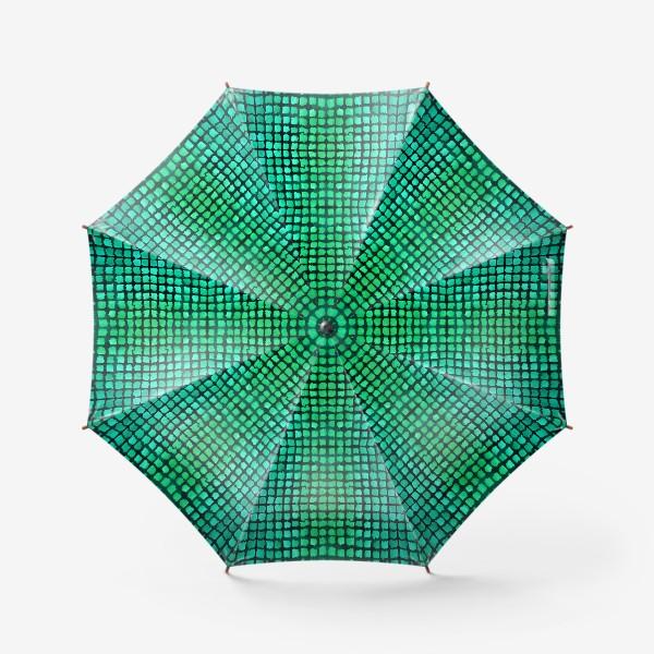 Зонт «малахитовый узор»