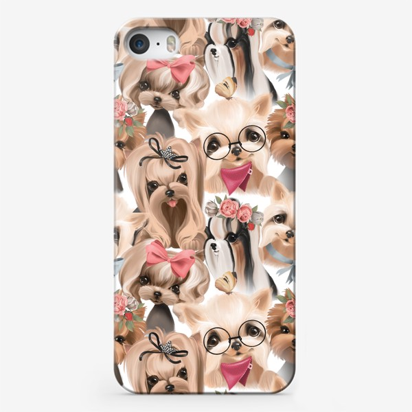 Чехол iPhone «Паттерн Йорки»