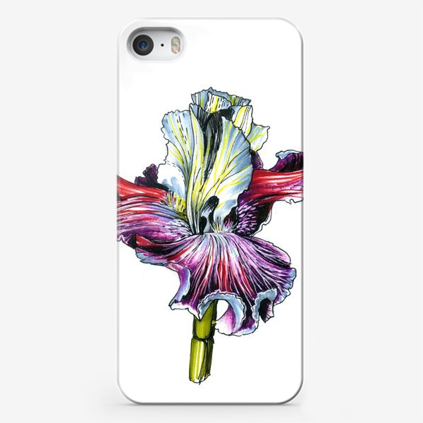 Чехол iPhone «Декоративный ирис»