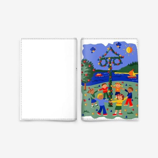 Обложка для паспорта «Праздник середины лета в Швеции»