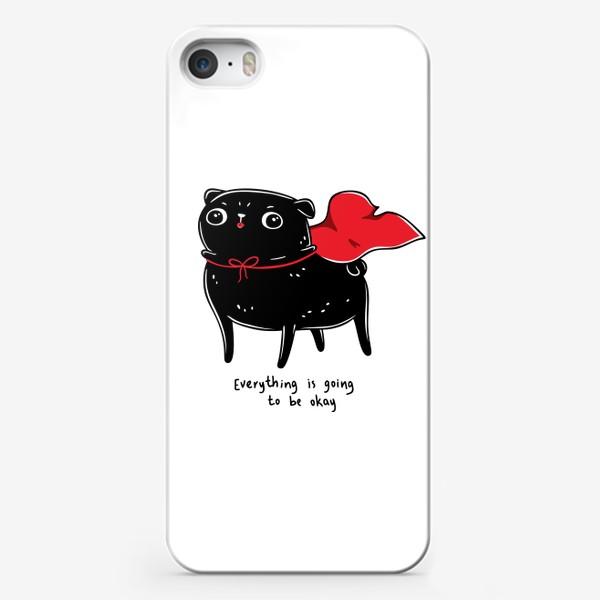 Чехол iPhone «Маленький и Милый Герой - Мопс»