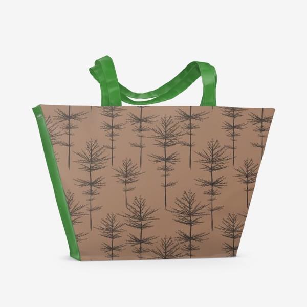 Пляжная сумка «Паттерн Растения»