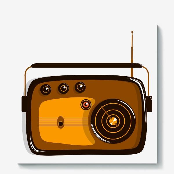 Холст «Ретро радио»