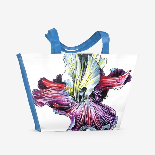 Пляжная сумка «Декоративный ирис»