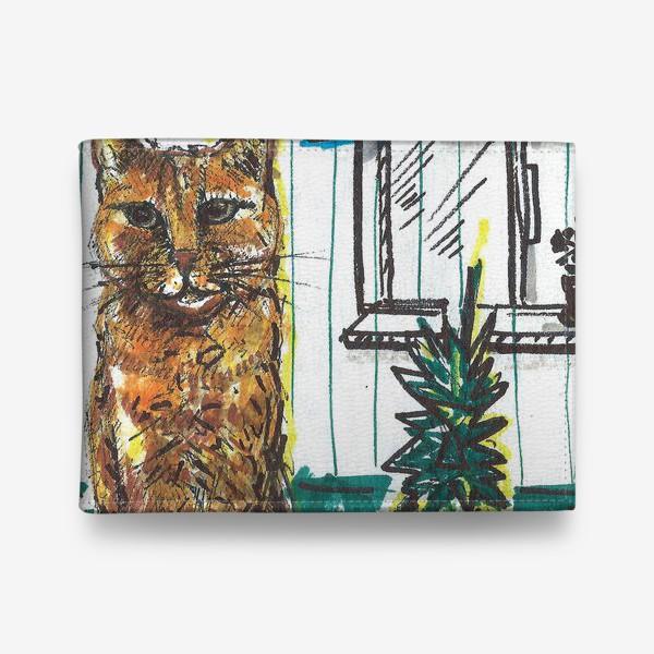 Кошелек «Котик и ананас дома»
