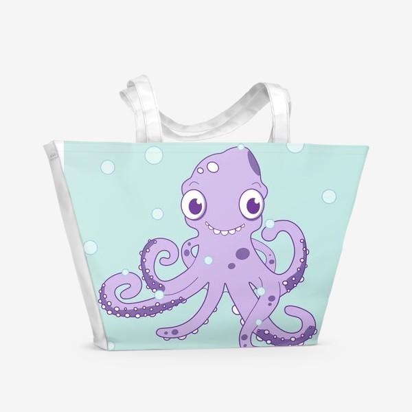 Пляжная сумка «Любознательный осьминог»